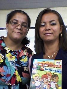 Com a professora Andrezza Martins