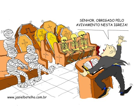 Charge por Jasiel Botelho
