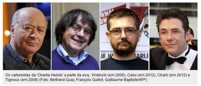 cartunistas da Revista  Charlie Hebdo
