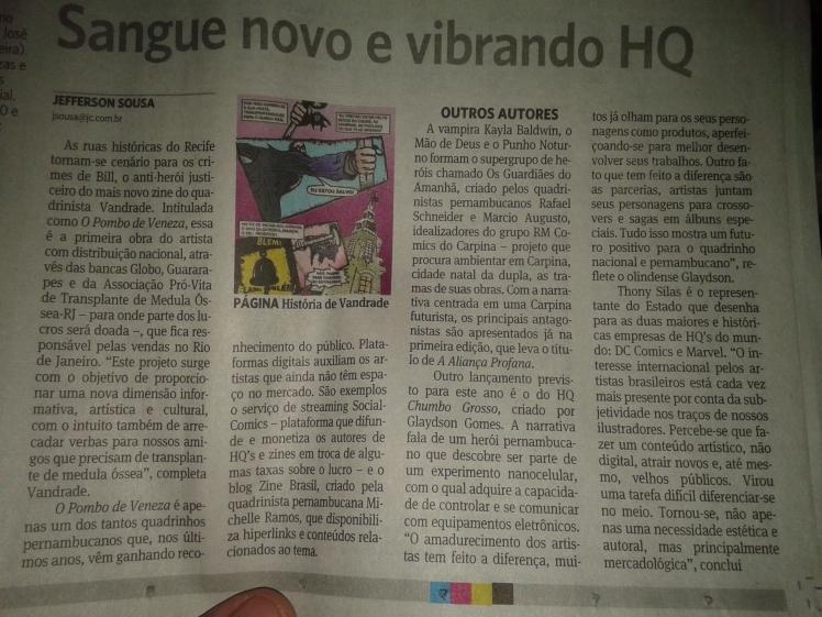 Zine Brasil e Michelle Ramos são citados em matéria do Jornal do Commercio PE
