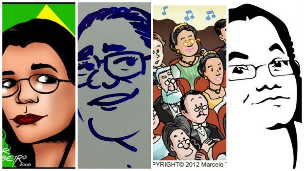 caricaturas em destaque