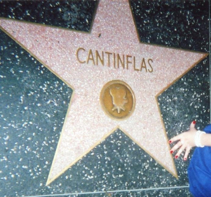 Cantinflas, na Calçada da Fama.
